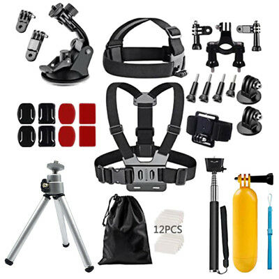 46 in 1 Acessories Kit Set for GoPro Hero 6 5 4 3+ Sports Camera Bundle Pack