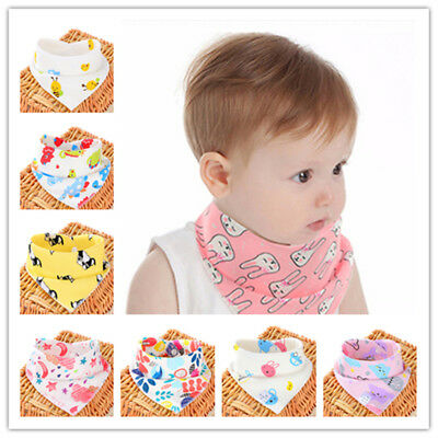 Fashion Kid Bibs Cartoon Cotton Baby Feeding Apron Triangle Scarf Bib Collar Bib
