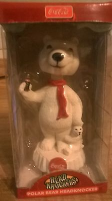 Coca Cola Polar Bear HeadKnocker BobbleHead 2004 NECA MLB Promotional Item NIB