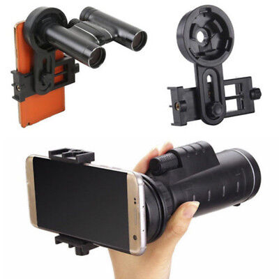 1x Universal Cell Phone Adapter Mount Binocular Monocular Telescope Clip Bracket