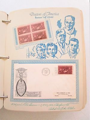 113 Page Postage Stamp Book First Day Issue Stationary 1947-51 Vintage Postal US
