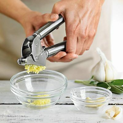 Stainless Steel Ginger Garlic Press Mince Crusher Squeezer Kitchen Tool Easy Use