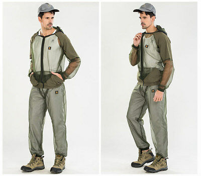 Outdoor Anti-mosquito Fishing Men Summer Mesh Quick-dry Breathable Hooded Suit