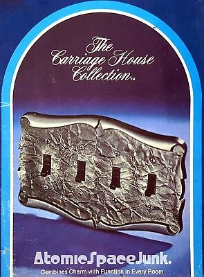 Amerock Carriage House Quad Switch Plate 4-Gang Antique Silver New In Box