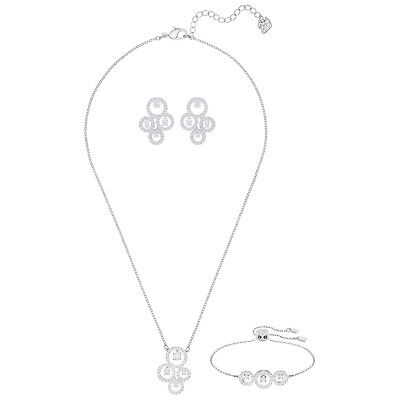d5a491e35db08 SWAROVSKI CRYSTAL FAVOR Rhodium Plated Necklace and Earrings Set ...