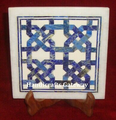 New Design Marble Floor & Wall Tile With Lapis Lazuli Inlay Work