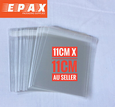 11cm x 11cm Self Adhesive Seal Clear Cellophane Bags - 90 pieces FREE POST