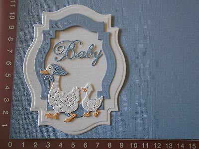 Die cuts - Duck, Duckling, Baby, Words, Card Toppers, Embellishments - Lot 1