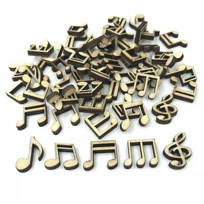 Mixed Wooden  music note shape Natural color Decoration Handicrafts Scrapbooking