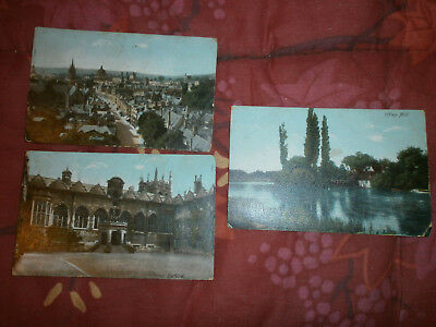 Lot 3 Cpa Couleurs Angleterre-Iffley-Oxford-Etang-Maisons-Castel