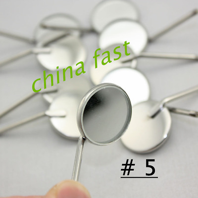 100 Pcs Dental Mouth Mirror 5 # Inspect Surface Reflector Odontoscope Glimpse SS