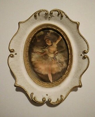 Vintage silk picture made in Italy, small