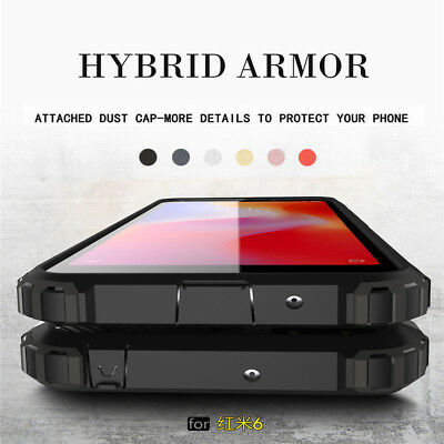 For XiaoMi RedMi 6 6A Rugged Armor Shockproof Protective Hard Case Phone Cover