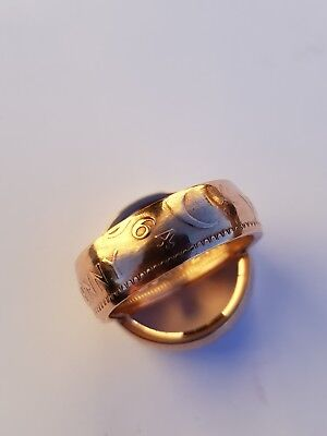 Australian One Penny Coin Ring 1964