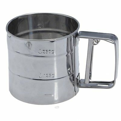 Stainless Steel Flour Sifter Cup Baking Icing Sugar Shaker Strainer Sieve B8G6