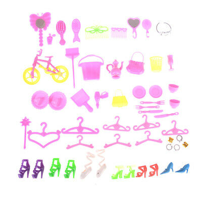Accessories for Barbie Doll Jewelry Necklace Earring Bowknot Crown Dolls GiftHJ