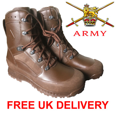 Haix British Army Issue Brown Leather Goretex High Liability Combat Boots