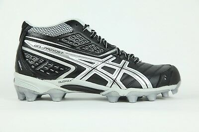 Mens Asics Gel Provost Mid P286Y 9093 Lace Up Black Silver Hi Top Rugby Boots