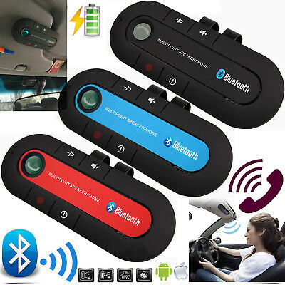 Bluetooth Car Van Kit Wireless Speakers HandsFree Clip Smart Mobile Phone Lots