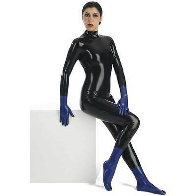 *~*Top Sexy Latex Socken kurz Blackstyle Gr. XL Blau Neu*~*
