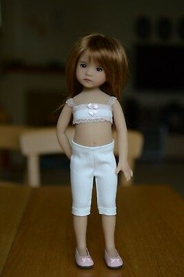 White Capris for Little Darling Dolls - 13in - Dianna Effner