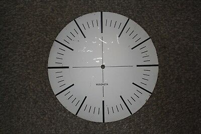 "Vintage Aluminium Clock Dial/Face, 8.5"" (215mm) spares/parts/repairs"