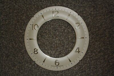 "Vintage 1960s Smiths Clock Chapter Ring/Face, 6"" (156mm) spares/parts/repairs"
