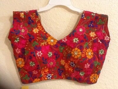 Indian Cotton Silk Multi color New Style Designer Printed Embroidered Blouse