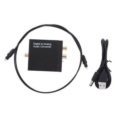 Lovoski Optical Coaxial SPDIF Digital to Analog Converter RCA L/R Adapter