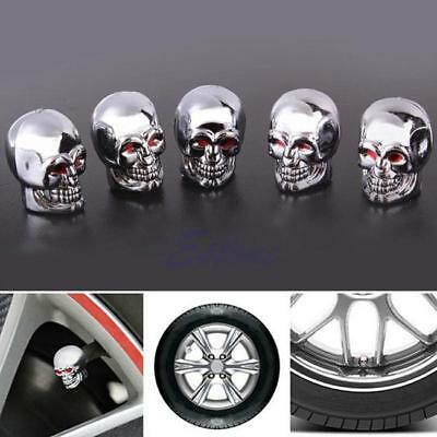 Evil Skull Tyre Tire Air Valve Wheel Stem Dust Cover Caps For Car Bike Truck DD
