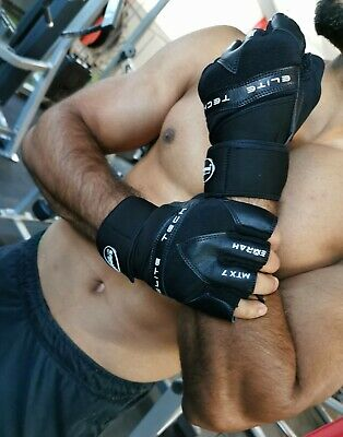 EMRAH Leather Weight Lifting Gloves Cross Training Fitness Gym Bodybuilding