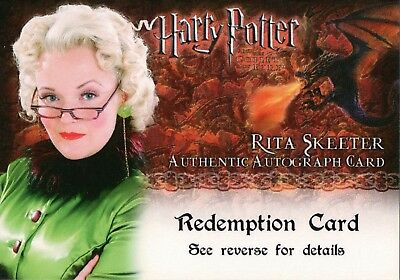 Harry Potter & The Goblet Of Fire, Rita Skeeter Auto Redemption Card