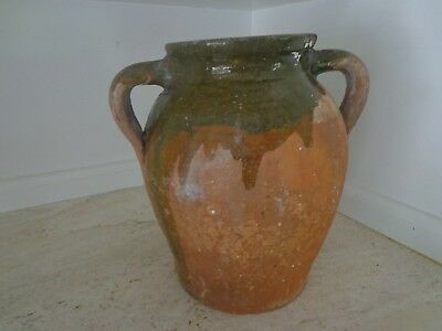 Antique French Pot Large 19Th Century Terracotta Confit Pot Or General Use Pot