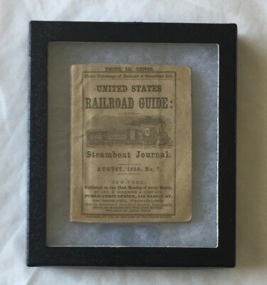 1850 UNITED STATES RAILROAD GUIDE & STEAMSHIP JOURNAL w/ FOLDOUT MAP - VERY RARE