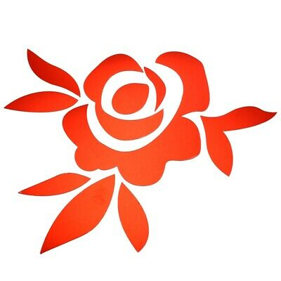 Creative 3D DIY Rose Flowers Sticker Decoration Mirror Wall Stickers - Red L2M7