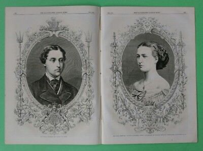 The Illustrated London News  11/8/1862 The Prince of Wales-Edward VII+Alexandra