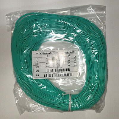SC/UPC-LC/UPC Fiber Optic OTDR Launch Cable 100 meters 50/125 OM3 10G Multimode