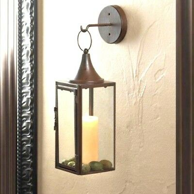 Pendant Hurricane Lantern Sconce Pillar Candle Holder Wall Decor