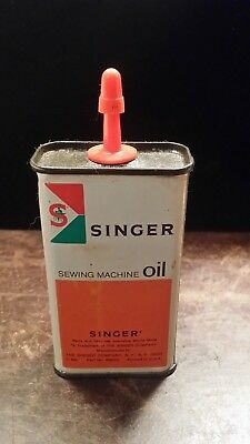 Vintage Singer Sewing Machine Oil Can 4Oz Free Shipping
