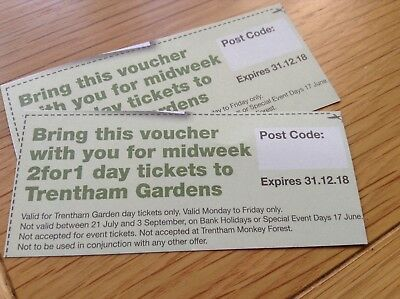 Stoke on Trent Trentham Gardens Estate coupon tickets BOGOF Days out vouchers