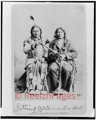 New Art Print of 1884 Palmquist & Jurgen Photo Sitting Bull & Nephew 13 X 19