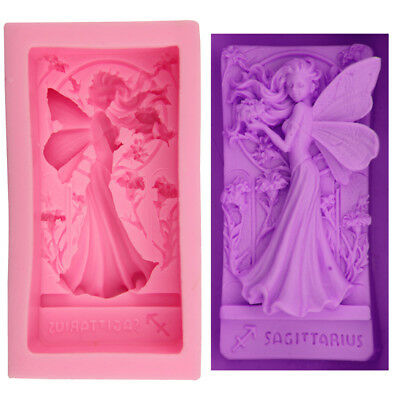 New Silicone 3D Angel Fairy Girl Soap Craft Mold DIY Handmade Fondant Cake Mould