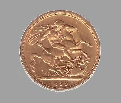 1899 Gold Full Sovereign - Queen Victoria Veiled Head