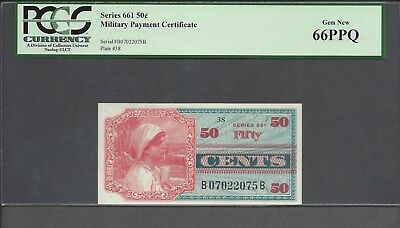 Military Payment Certificate series 661  50 cents  PCGS PPQ
