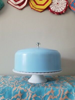 1950's Vintage Turquoise/ Robins egg Blue Cake Cover  MCM