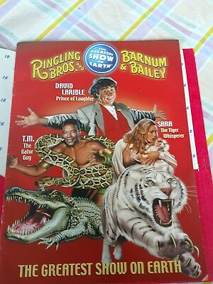 RINGLING BROS AND BARNUM & BAILEY CIRCUS 132  PROGRAM with AUTOGRAPHS EXC
