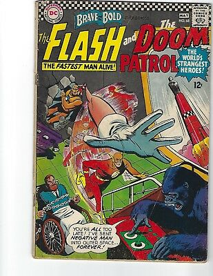 BRAVE AND THE BOLD  #65 The FLASH AND DOOM PATROL DC COMICS 1966  12¢