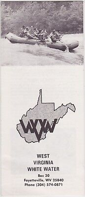 c1970's West Virginia Whitewater Rafting Brochure