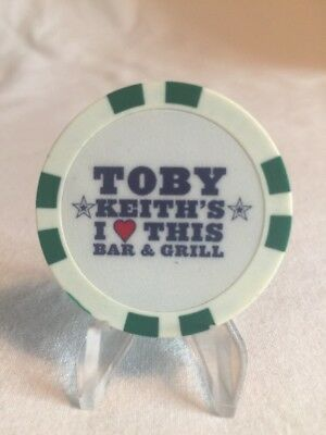 Souviner Poker Chip From Toby Keiths Bar And Grill In Oklahoma City, OK