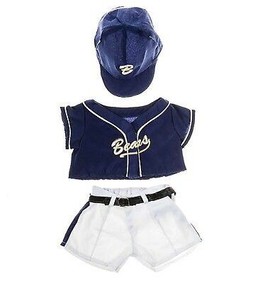 "Baseball Uniform Outfit Teddy Bear Clothes Fit 14"" - 18"" Build-a-bear"